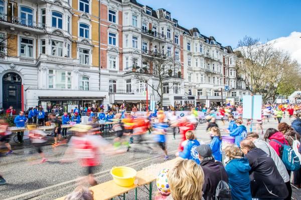 Haspa Marathon Hamburg 2016, Eppendorfer Baum,  *** Local Caption *** © hochzwei / angerer