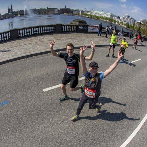 33. Haspa Marathon Hamburg 2018, 29.04.2018, Harvestehuder Weg, Alster