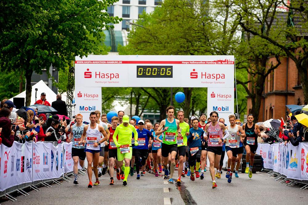 34. Haspa Marathon Hamburg 2019, Start Halbmarathon