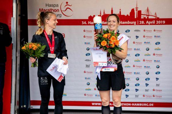 34. Haspa Marathon Hamburg 2019, Halbmarathon, Siegerehrung
